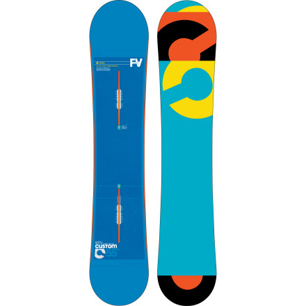 Snowboard It's the same old award-winning Burton Custom Flying V, just in a wider package for those who want the same Custom performance without the toe drag. Flying V profile and twin shape make the Custom ready to tackle the entire mountain, no matter how freakishly huge your feet are. - $317.97