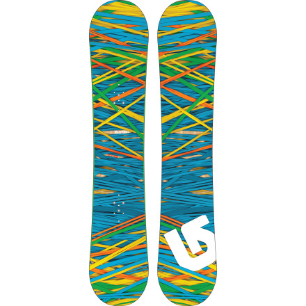 Snowboard You're going to be a social butterfly when everyone sees you throwing down in the park on your Burton Social Women's Snowboard every day. V-Rocker is playful for jibbing and buttering and, with lifted Scoop Tips, forgiving when things don't go quite as planned. - $221.97