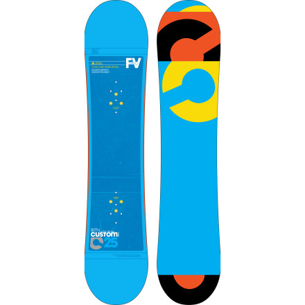 Snowboard Burton built the Custom Smalls Snowboard for kids who need a board that can keep up with their progression. The Custom Smalls features the Flying V profile for a forgiving ride that can still charge big-boy runs and handle itself in the park. - $155.97
