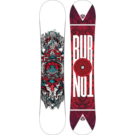 Snowboard Burton may have named the TWC Smalls Kids' Snowboard after legendary pipe rider Shaun White, but it's designed for all levels of budding riders. The V-Rocker profile is catch-free and forgiving so your little ripper can spend less time falling and more time learning to love snowboarding. - $143.97