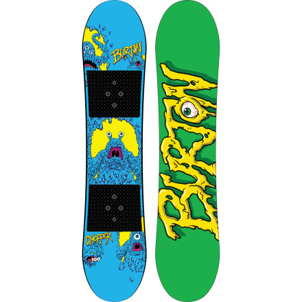 Snowboard Get Junior headed in the right direction with the Burton Kids' Chopper Snowboard. The Chopper is packed with kid-friendly features (and super-cool graphics) that will take the frustration out of learning to ride. - $107.97