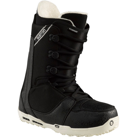 Snowboard If lightweight performance is what you're after, look no further than the Burton Rampant Snowboard Boot. This soft-flexing all-mountain boot is the lightest in the entire Burton arsenal, but it's still packing plenty of features to crank your performance way up. - $119.97