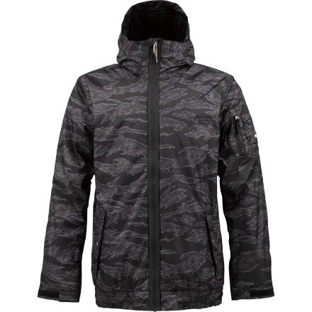 Snowboard The BurtonGroucho Insulated Jacket is a mountain-worthy take on the typical bomber jacketonly armed with 10K-rated DryRide 2L material and zonalinsulation. - $80.96
