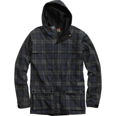 Ski The Burton Jaspar Softshell Jacket combines a 10K waterproof breathable shell fabric with a soft fleece lining for a jacket that's tough enough to wear over layers as a hard shell, but comfortable enough to wear over just a T-Shirt for spring skiing. - $64.95