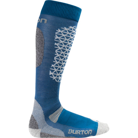 Snowboard Constructed from a blend of high-tech synthetics and nature's wonder fiber, merino wool, the Burton Merino Phase Sock keeps frolicking feet from getting cold and wet so you can worry about the feature in front of you, not what's going on with your socks. - $15.54