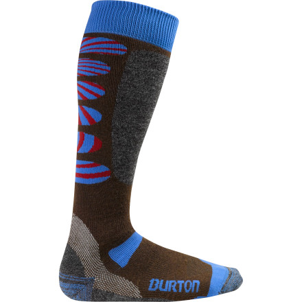 Snowboard Throw on the Burton Buffer II Sock before you head to the mountain for an all-day shred sesh. The padded channels on the top of the foot and shin alleviate pressure from your ankle straps for extra comfort while you ride, while elastic arch and ankle supports keep your bits and pieces happy. - $22.90