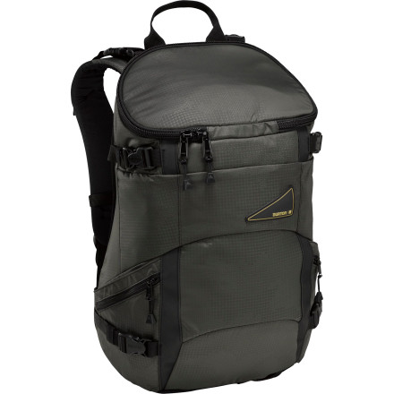 Snowboard Designed with backcountry snowmobiling in mind, the Burton Sled 28L Backpack packs everything you need for a sun-up to sun-down backcountry adventure. Best of allit holds your board horizontally so you can sit down with your board on your back on your way to find the goods. - $76.97