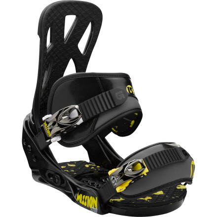 Snowboard The Burton Kids' Mission Smalls Snowboard Binding isn't just a stripped-down, shrunken version of an adult binding. It's a full-featured performance binding that your little ripper can trust to stay with him as he shreds the park or powder mercilessly. - $83.97