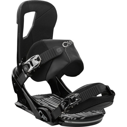Snowboard The Burton Cartel Re:Flex Snowboard Binding is claiming its territory worldwide, with more non-Burton pros riding it than any other binding. This is because the Cartel features the Canted Living Hinge highback and the Autocant footbed, which work together to mimic natural leg position no matter what your stance, so you can ride longer and more comfortably. Oh, and it's compatible with every board on the market. - $137.97