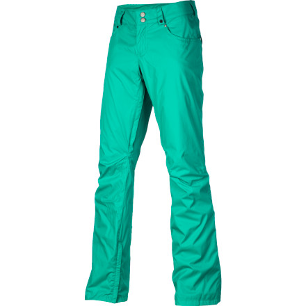 Snowboard Think of the Burton Women's TWC Fulltime Flirt Pants as your favorite pair of jeansthey're comfortable, versatile, and they look good whether you hook them up with the matching jacket from the White Collection or mix and match with a different jacket. Either way, these pants will keep you dry while you play in the snow. - $71.47
