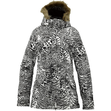 Snowboard The Burton Women's TWC Memphis Jacket epitomizes the sleek lines and well-rounded tech of the White Collection. This jacket uses the double-layered protection of DryRide Durashell fabric to keep the weather off your back so you can focus on carving out long lines and on looking great both on and off the mountain. - $109.98