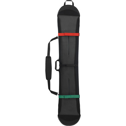 Snowboard The Burton Board Sleeve takes a minimalist approach to traveling to your far-away or near-by shred destination. Stretchy neoprene material and cinchable straps secure your deck for stealthy transportation. - $48.93