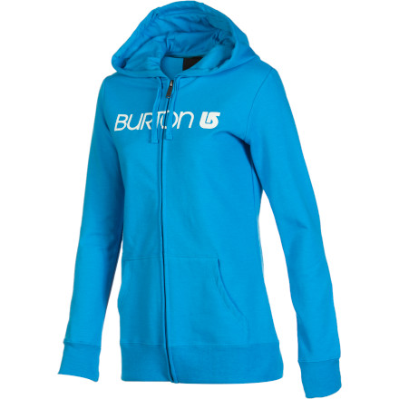 Snowboard You may have started snowboarding way back when bindings were non-existent or recently when endless choices of women-specific gear were abound. How long you've been shredding doesn't matter. What does matter is that the slightly fitted, feminine style of this Burton Women's Her Logo Basic Full-Zip Hooded Sweatshirt suits you perfectly. - $54.95