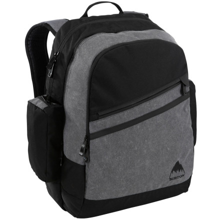 Camp and Hike Store your laptop in the Burton Fader Backpack's laptop compartment and your MP3 in the sound pocket, and hop on the bus. This pack's shoulder harness features a wired audio jack for ease of tuning in your favorite music and tuning out the world. - $69.98