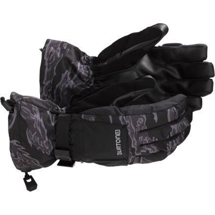 Snowboard Don't be that guy who makes everyone head to the mid-mountain cafe during an epic day because your hands are freezing. The Burton Baker Glove features 3-in-1 waterproof breathable protection that works in any weather. The DryRide Ultrashell 2-layer fabric and DryRide Insane Membrane 2.0 work together to block out wind and snow while wicking away sweat so your hands stay dry and warm. Plus it features a removable liner you can rock solo when its really warm, or combine it with the shell so you can stay out there when conditions take a turn for the worst. - $45.43
