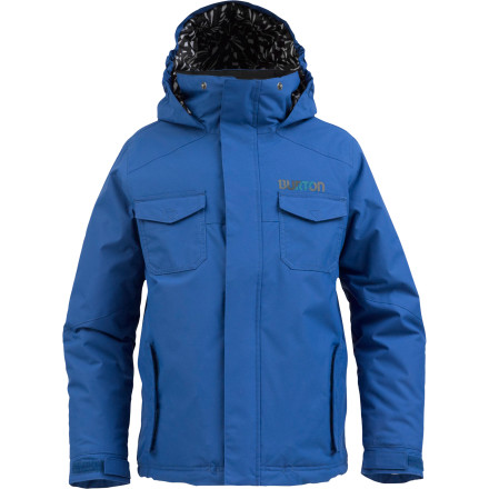 Snowboard Don't send Junior out into the fight without the protection he needs. Suit him up in the Burton Boys' Fray Jacket so he'll stay warm and dry when he takes on the mountain thanks to a DryRide durashell and Thermacore insulation. It's that or send him out into the storm in a T-shirt and hope it toughens him up, but Child Services seems to frown on that. - $68.70
