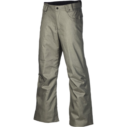 Snowboard The Burton Boys' Denim Pant mashes up street style with tough mountain tech so your up-and-comer can rock the park with serious swag. DryRide Durashell and Thermacore insulation  keep him warm and dry so he can work the hill from dawn to dusk. - $49.46