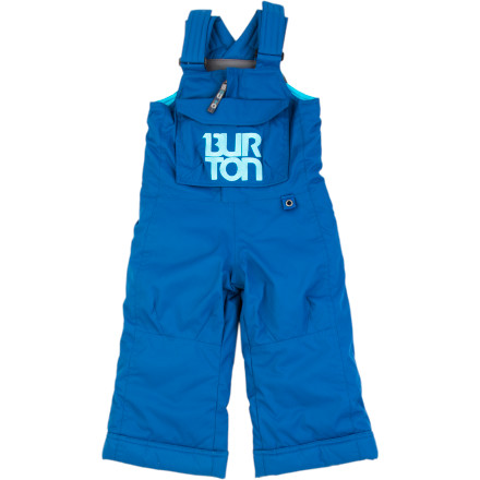 Snowboard The Burton Toddler Boys' Minishred Cyclops Bib Pant will get your little snow monster through his first season on the snow. Moisture-stopping tech and Thermacore insulation keep him warm so he can build his skills all day without feeling the cold. - $54.97