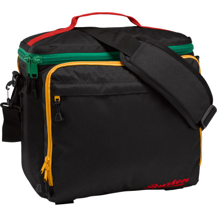 Snowboard The Burton Lil Buddy Cooler Bag, a 12er, and some tunesimagine the possibilities. With the Lil Buddy Cooler Bag, you will pretty much be a walking outdoor concert that all your friends will want to attend. - $99.95