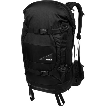 Snowboard When you have a lot of gear to haul into a serious backcountry mission, grab the Burton Glacier 37L Backpack. A spacious roll-top entry main compartment stores tons of gear, and the option of using either the horizontal or the vertical board carry makes this versatile pack well suited for sledding and skinning alike. - $94.47