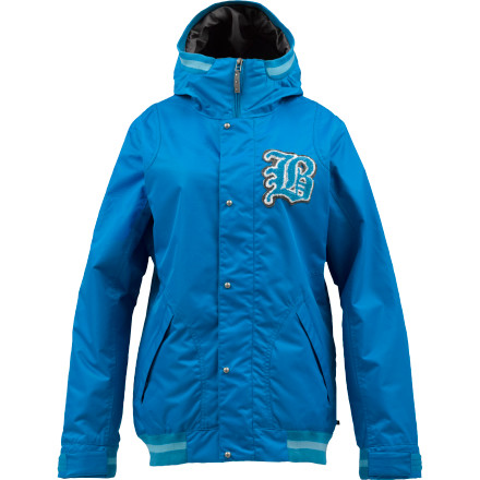 Snowboard Take it to the championship this year in the Burton Varsity Women's Snowboard Jacket. DryRide 2-layer fabric keeps you dry and Thinsulate insulation maintains warmth in harsh weather so you can ride pow all season instead of riding the bench. - $109.98