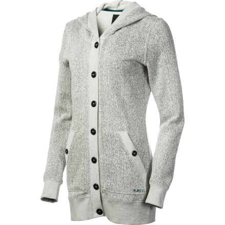 Snowboard The Burton Women's Dogwood Hooded Cardigan brings warmth for the winter and an arresting and up-to-the-minute style you will long to wear from fall to spring. - $52.46