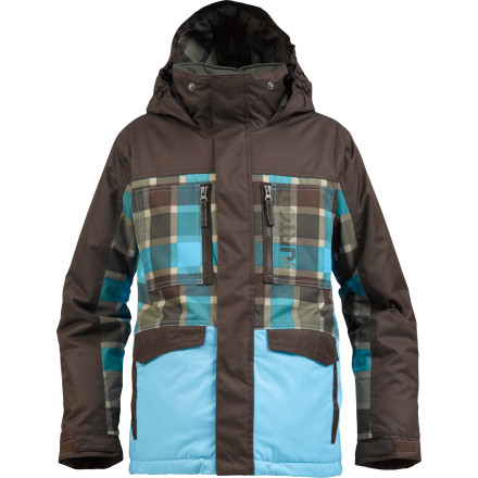 Snowboard The Burton Boys' Distortion Jacket provides the warmth, water-resistance, and style to keep young warriors of the shred stomping and romping through the parkor wherever they choose to unleash their skills. - $80.96
