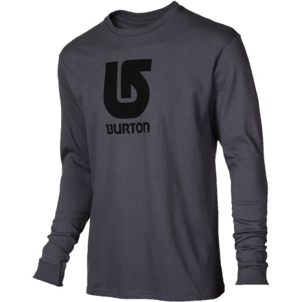 Snowboard You don't need to wear electric green to feel good about yourself, so slide into the Burton Men's Logo Vertical Slim T-Shirt and go have a good time keepin' it real. - $20.21