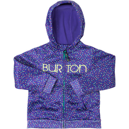 Snowboard The Burton Toddler Girls' Mini Scoop Hooded Fleece Jacket equips little riders with style and technical bonded fleece that can take with them around town or to the mountain. - $29.97