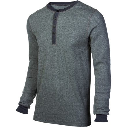Snowboard Simply titled but designed for technical layering, the Burton Henley Shirt breaks the mold of the baselayer design and presents some bangin' style. With a modern length, the Henley is made for either tucking in or letting it hang out for extra coverage. - $35.94