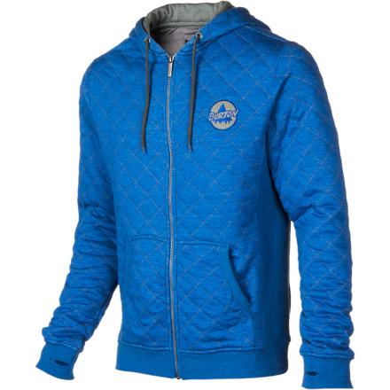 Snowboard Burton adds a little stylish flair to an old favorite with the Issue Full-Zip Hoodie. The unique quilted texture sets the Issue apart, and the Burton chest applique lets folks know that you're old-school cool. - $44.97