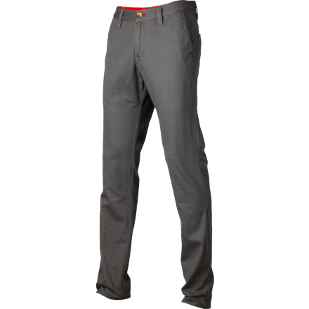 Snowboard The Burton Maddox Twill Pant is all about casual style. You'd think that a company that's used to designing clothes for the harshest environments on Earth would have no problem designing tough, stylish casual wear. You'd be right. Burton's casual stuff is killing it, and the Maddox is not an exception. The 100% cotton solid twill Maddox features a Mid Fit, which falls between slim and baggy so you don't look like you're trying too hard. - $41.97