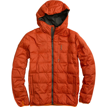 Snowboard The Burton Groton Down Insulated Jacket's versatility makes it more than a snowboard jacket; it's a stylish three-season top for hitting it hard at the slopes or just kicking around town. The Groton can be worn under a shell as a super-warm midlayer or on its own in warmer weather, and the elastic hem and fixed hood seal out chilly drafts effortlessly. - $71.96