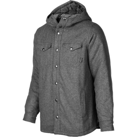 Snowboard The Burton Men's Nelson Woven Top can be used as a mid-layer while you ride, but looks good enough to wear to the pub for apres-ride activities. The soft sherpa fleece lining is crazy soft but won't add a lot of bulk, and the button front with dual chest pockets adds plenty of style. - $59.97