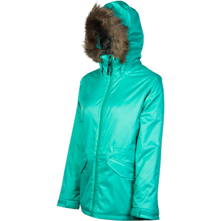Snowboard Whether your going riding, skiing (say it ain't so), or just kicking around town, the Burton Girls' Maple Jacket's blend of waterproof breathable fabric, synthetic insulation, and added style make it stand out in any crowd while it keeps you warm and toasty. - $89.98