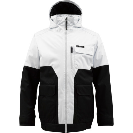 Snowboard You don't have to be the greatest park and pipe snowboarder on Earth to wear the Burton White Collection TWC Prizefighter Insulated Jacket. You WOULD wear it if you were (we have footage), but even if you aren't, the Prizefighter is readily available with a 10K waterproof shell, midweight synthetic insulation, and strategic venting so you can keep the temperature right where you want it all day, even if the weather is throwing fits. - $89.96