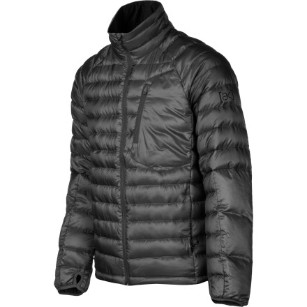 Snowboard Whether you're heading downtown on a chilly evening, or you're chasing powder during a gnarly arctic storm, the Burton AK BK Insulator Men's Jacket delivers the warmth you need. 550-fill down is super-warm yet packable so it fits under a shell without restricting movement, meaning you have one less thing to worry about when you're shredding that burly line you've been eyeing all season. - $149.94