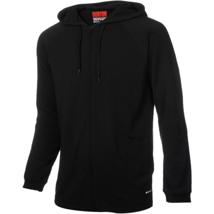 Entertainment The Burton Men's Camp Hooded Sweatshirt looks like a regular casual hoody, but it's much more than that. The Camp is made with DRYRIDE Ultrawick fabric, which won't absorb water from outside and actually pulls sweat away from your body to keep you dry all day. The Burton stretch fabric won't bind, giving you an unlimited range of motion and adding durability, and the anti-microbial finish reduces odor, so you can ride all day without stinking. - $44.94