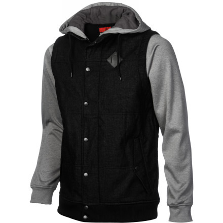 Snowboard The Burton Sabbath Full-Zip Hoodie comes lightly insulated and highly recommended by Burton's team riders. It's just the thing for anyone looking for a hoodie to scout the city for handrails at night or anyone who just needs a little help staying warm with Thermacore insulation. - $89.93