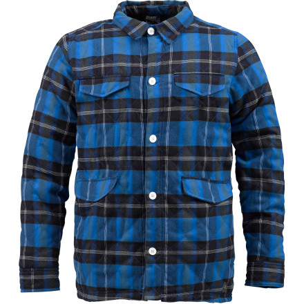 Snowboard The Burton Dags Flannel Jacket brings you the same style as your grandpa's sidewalk-shoveler with a little addition of water-repellent technology. Dag yo. - $58.46