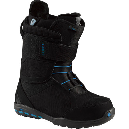 Snowboard The Burton Axel Snowboard Boot may be park-performance focused, but it also features plenty of lavish extras. Pre-wired to hook up to a Therm-ic heating system for luxurious warmth, the Axel also features a fur-lined Plush Cuff and a Sweet Spot Speed Zone lacing system that locks your heel down for added comfort and reduced fatigue. - $149.97