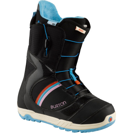 Snowboard Burton designed the Women's Mint Snowboard Boot for progressive riders who are looking for soft, bubble-bath comfort and would still like to be able to afford the snowboard to go with it. Burton even hooked the Mint up with Speed Zone lacing, so you can dial your fit and keep it tight where you want it without overpowering the spots where you don't. - $95.97