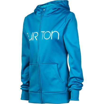 Snowboard Look to the Burton Womens Scoop Full-Zip Hooded Sweatshirt for layering options this winter. Unlike cotton hoodies, this sweatshirt uses quick-drying and highly breathable fleece to make it a solid performer on-mountain and not just during lounging. Wear the Scoop Hoody under a shell in winter and then rock it over a tee in spring. - $55.97