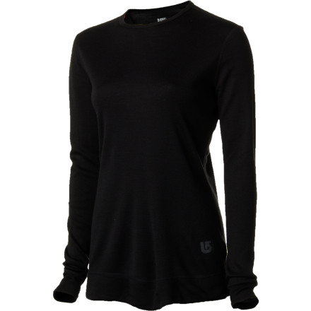 Fitness The Burton Womens Wool Crew Long-Sleeve Top blends wool, nature's best solution for winter warmth, with high-performance synthetic material to keep you warmer on the mountain. This smooth, itch-free top not only regulates your temperature so you can keep shredding, it naturally wicks moisture and prevents the buildup of stinky bacteria. - $55.22