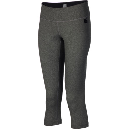 Fitness When you live out of a truck or in tight quarters you don't have the room for a lot of clothes, you need multi-taskers like the Burton Women's Premium Capri Pant. Wear this stretchy, mid-calf tight to the gym or yoga class in the morning, and then pull your snowboard pants over them for a few runs in the afternoon. Thanks to the fabric's quick-drying, odor-fighting properties, there's no need for a costume change in-between. - $32.97