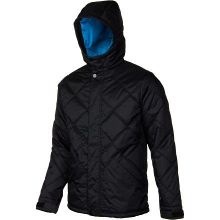 Snowboard Leave the matches and lighter at home, you don't need to strike up a fire for some warmth when you're wearing the cozy Burton Men's Tinder Jacket. Wear this quilted puffy when you're out and about on cold winter afternoons, or layer it under a shell during numbingly cold days on the mountain. - $49.46