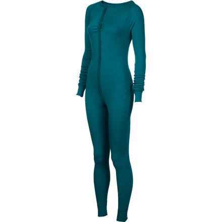 Fitness Ban the waistband and go for the head-to-toe comfort of the Burton Women's Luxury Midweight One-Piece Baselayer. Enjoy the performance of the stretchy DryRide Ultrawick fabric on  the mountain, then strip down to hang out on the couch in this decadently comfortable baselayer that can double as your jammies. - $54.97