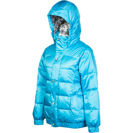 Snowboard Love snowboarding, but hate the cold Overcome your internal struggle with the Burton Allure Girls' Puffy Down Jacket. 550-fill down keeps you warm when temperatures plummet, so you don't have to waste any time warming up in the lodge. - $89.98
