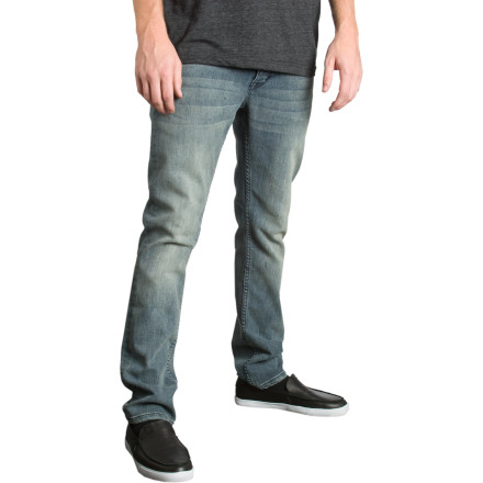 If you long for the caress of stretchy, slim denim, the C1RCA Select Dart Denim Pants help you get your tight-pants jollies. Premium cotton/Spandex denim fits close and moves well. - $47.97