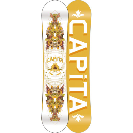 Snowboard Being unpredictable only adds to your allureit keeps men on their toes. But unlike you, the Capita Women's Saturnia Snowboard is very predictable. It won't buck, bite, or refuse to release on a turn when you tell it otherwise. And to balance this soft-flexing, predictable ride, the full-length camber profile keeps the Saturnia orbiting the resort with lively and high-popping power, ready to be unleashed at any moment. - $203.97